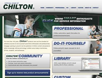 chilton.cengage.com screenshot
