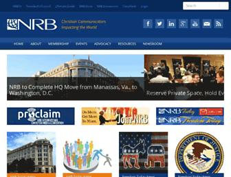 Main page screenshot of nrb.org