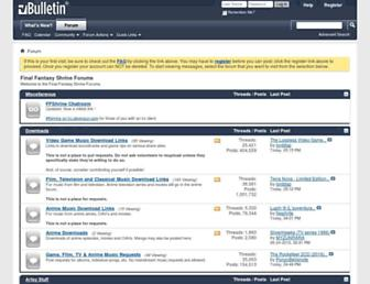 forums.ffshrine.org screenshot