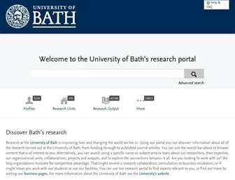researchportal.bath.ac.uk screenshot