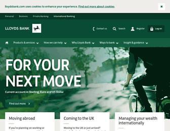 international.lloydsbank.com screenshot