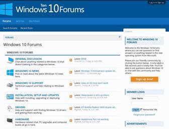 windows10forums.com screenshot