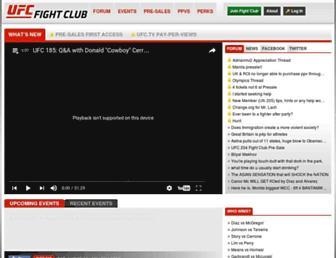 Thumbshot of Ufcfightclub.com