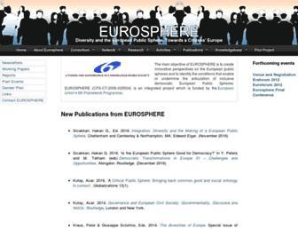 eurospheres.org screenshot
