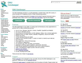gnugk.org screenshot
