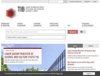 tib.eu screenshot
