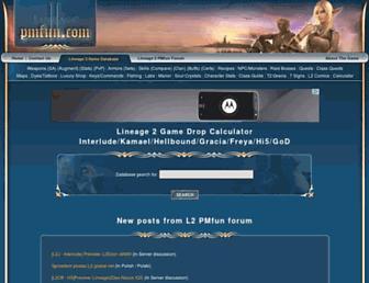 lineage.pmfun.com screenshot