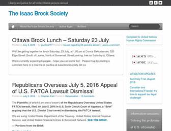 Thumbshot of Isaacbrocksociety.ca