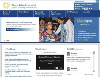 Thumbshot of Rhodeislandhospital.org