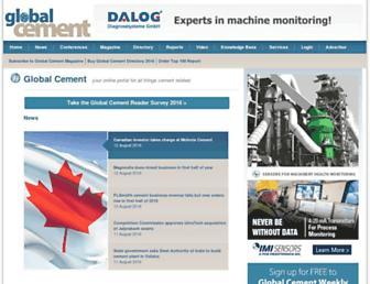 globalcement.com screenshot
