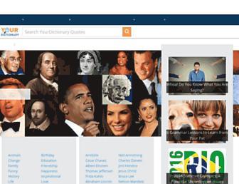 quotes.yourdictionary.com screenshot