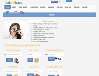 findandtrace.com screenshot