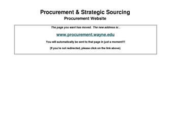 forms.procurement.wayne.edu screenshot