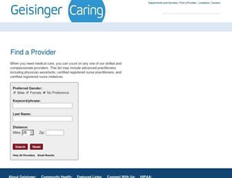 providers.geisinger.org screenshot