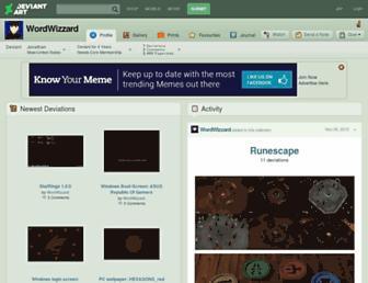 wordwizzard.deviantart.com screenshot