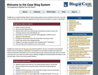 Main page screenshot of blog.case.edu