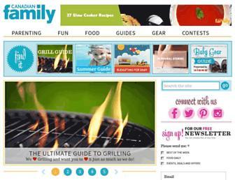Main page screenshot of canadianfamily.ca