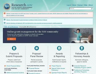 research.gov screenshot