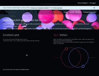 Main page screenshot of lastfm.de