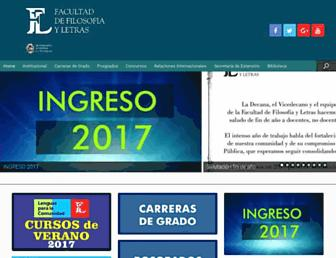 Main page screenshot of filo.unt.edu.ar