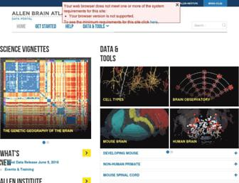 Main page screenshot of brain-map.org