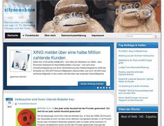 Main page screenshot of zitronenkern.de