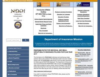 doi.nebraska.gov screenshot
