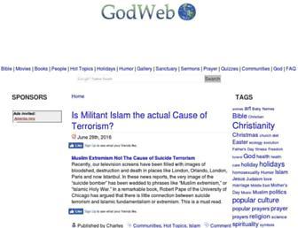 Main page screenshot of godweb.org