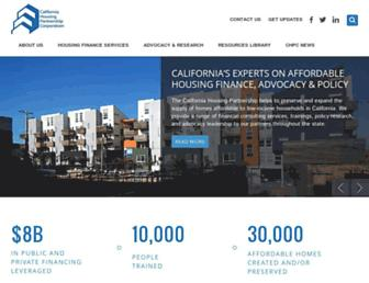 Main page screenshot of chpc.net