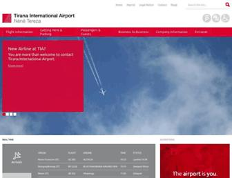 tirana-airport.com screenshot
