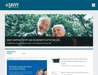 savvynewcanadians.com screenshot