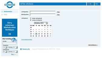 Main page screenshot of matkahuolto.info