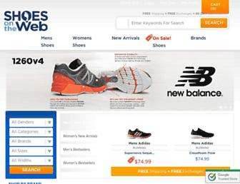 shoesontheweb.com screenshot