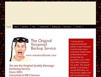 voicemailsaver.com screenshot