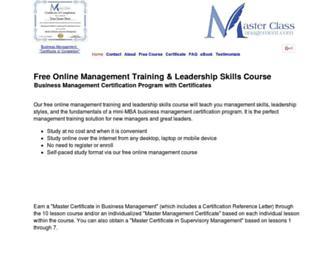 Thumbshot of Masterclassmanagement.com