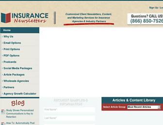 insurancenewsletters.com screenshot