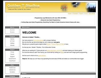 Main page screenshot of goldenstudios.or.id