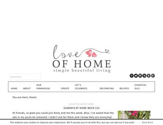 loveofhome.net screenshot