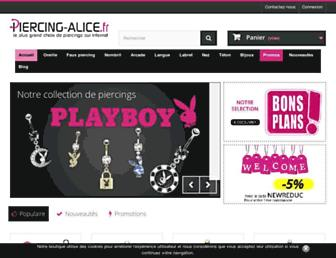 piercing-alice.fr screenshot