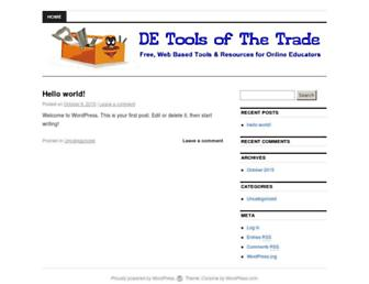 Main page screenshot of detools.ca