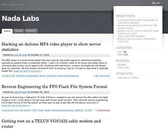 nada-labs.net screenshot