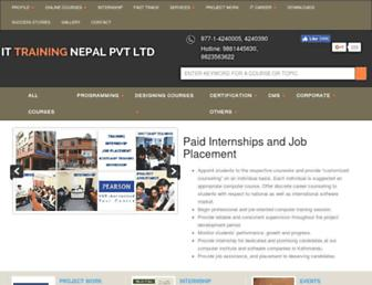 ittrainingnepal.com screenshot