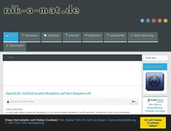 Main page screenshot of nik-o-mat.de