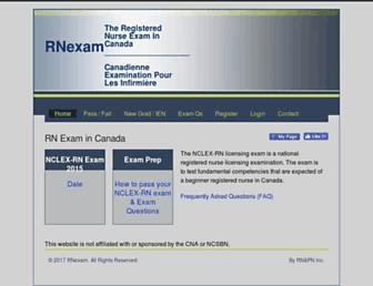 rnexam.ca screenshot
