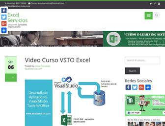 excelservicios.com screenshot