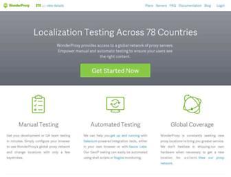 wonderproxy.com screenshot