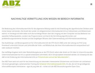 abz.inf.ethz.ch screenshot