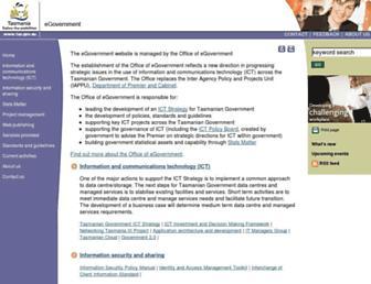 egovernment.tas.gov.au screenshot