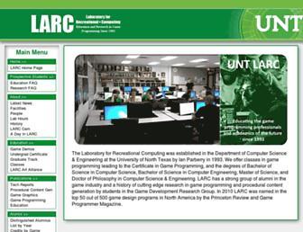 larc.unt.edu screenshot