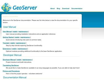 docs.geoserver.org screenshot